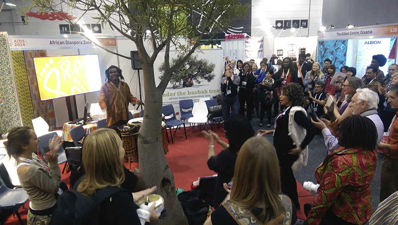 2014 – Under the baobab tree at AIDS conference